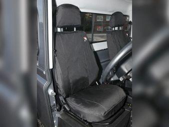 DA2818BLACK - Waterproof seat covers - Britpart - Defender - 2007 onwards Front Covers in kit -