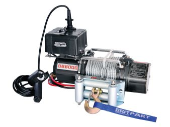 DB6000 - Winches - Britpart Pulling Power - Britpart Pulling Power 6,000lbs 12 volt winch